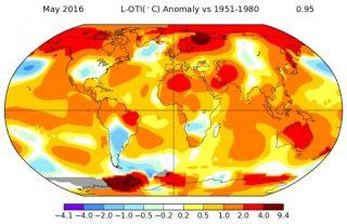 May 2016 average temperature comparison chart