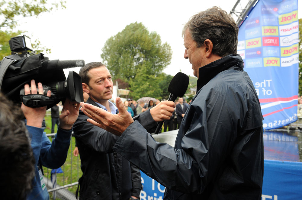 Hugh Roberts explains cancellation, Tour of Britain 2011, stage two (cancelled)