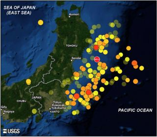 Japan 2011 earthquake map