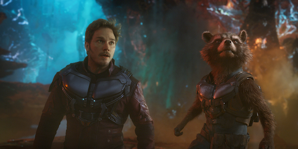 Star-Lord and Rocket Raccoon in Guardians of the Galaxy 2