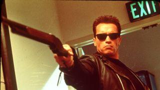 Arnold Schwarzenegger in Terminator.