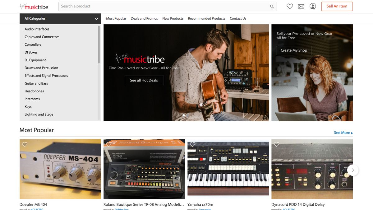 Behringer's free online music gear marketplace launches… then crashes