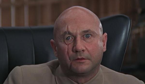 Ernst Stavro Blofeld SPECTRE leader staring