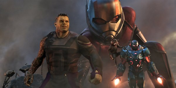 Hulk, Ant-Man, Rocket, and War Machine in Endgame