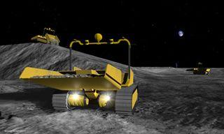 Robotic Lunar Bulldozers