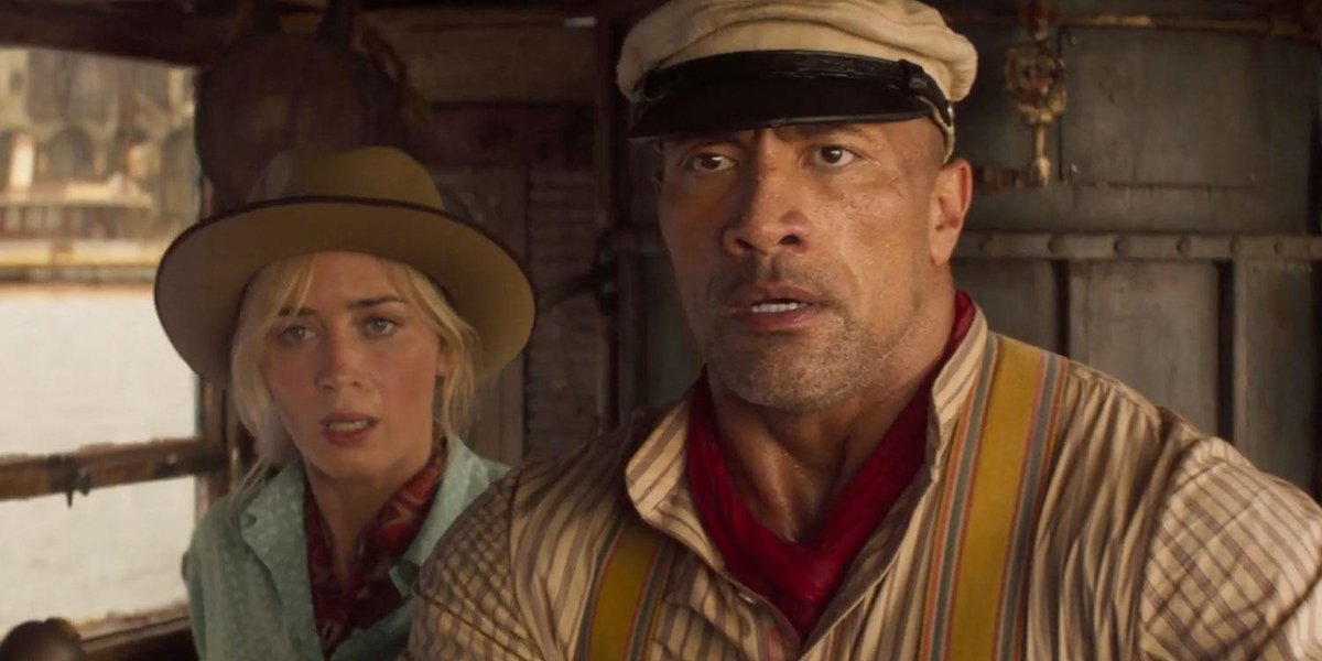Emily Blunt and Dwayne Johnson in Disney's Jungle Cruise