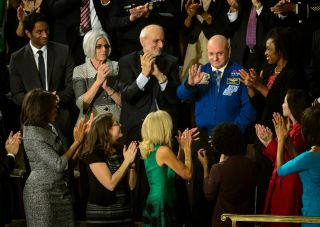 Scott Kelly at the State of the Union Address, 2015