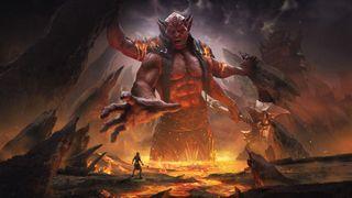 Infernal realm of Deadlands from the Elder Scrolls Online