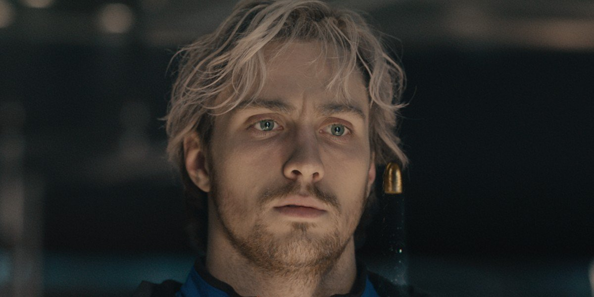 Aaron Taylor-Johnson as Pietro Maximoff/Quicksilver in Avengers: Age of Ultron (2015)