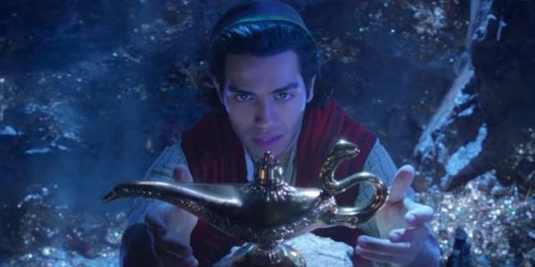 Aladdin (Mena Massoud) find a mysterious lamp in the Cave of Wonders