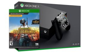 A photo illustration of an Xbox One X and PlayerUnknown s Battlegrounds
