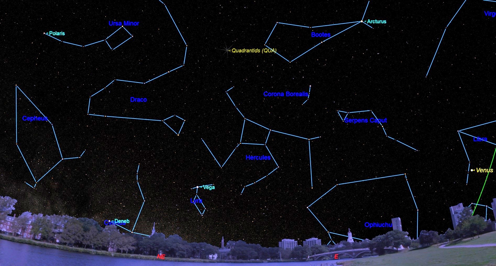 Bountiful Quadrantid Meteor Shower Hits North America at Wrong Time