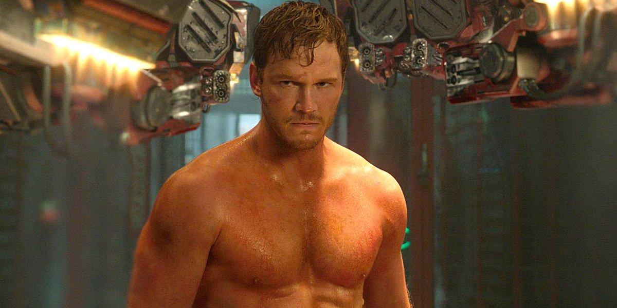 Chris Pratt shirtless Guardians of the Galaxy