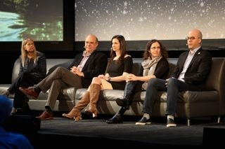 "On March 14, Leon Alkalai, Sara Seager, Erika Wagner and Yonatan Weintraub joined the panel ""Frontiers for Space Exploration,"" moderated by Dava Newman, at Beyond the Cradle 2019."