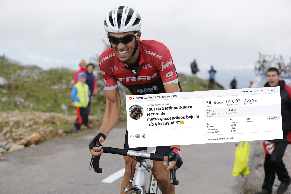 Alberto Contador breaks his own climbing elevation record at Alpine endurance race - Cycling Weekly