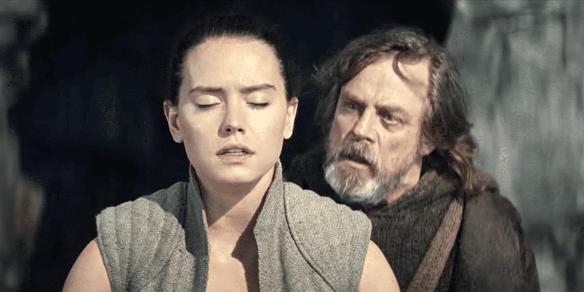 Rey and Luke in Star Wars: The Last Jedi Lucasfilm