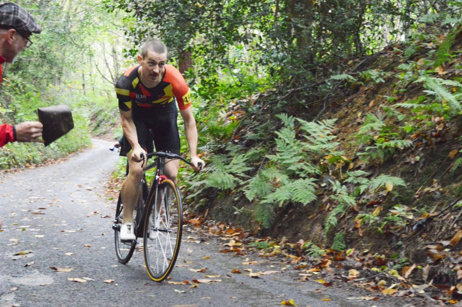 Calum Brown wins the Catford Hill Climb Classic 2019