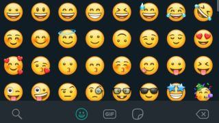 WhatsApp dark mode emoji