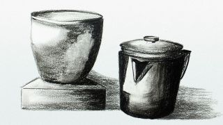 Sketch of shiny objects reflecting light