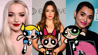 Dove Cameron, Chloe Bennet, Yana Perrault as the Powerpuff Girls