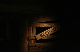 Keep out sign, public health policy