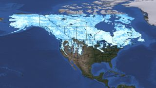 Snow cover map for March 5, 2012.