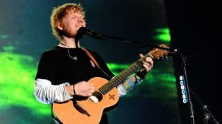 Ed Sheeran performing live