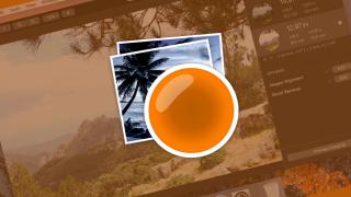 A couple of photos under an orange lens icon