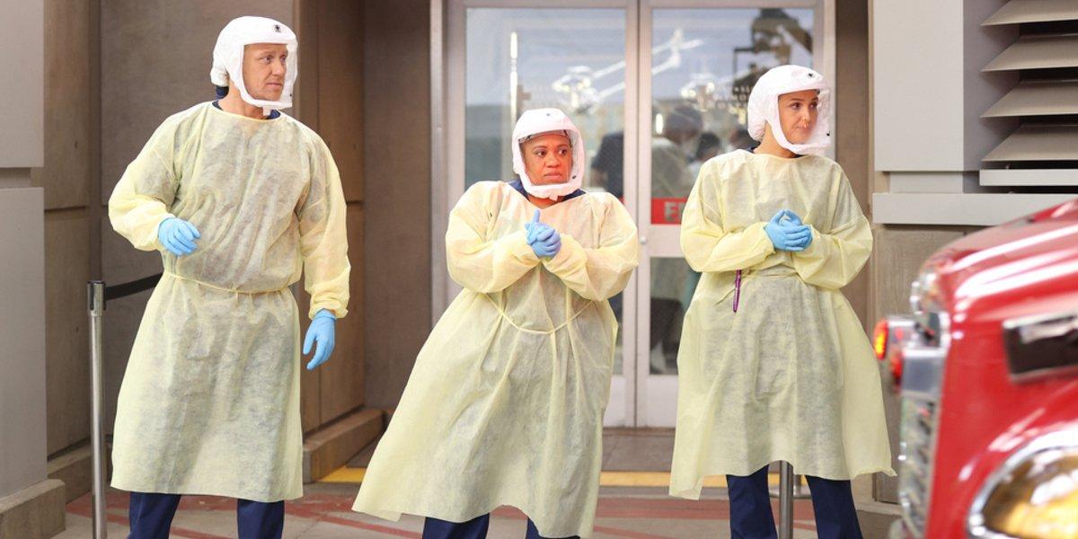 Grey's Anatomy season 17 owen bailey jo scrubs abc