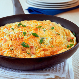 Smoked salmon souffle omelette-omelette recipes-woman and home