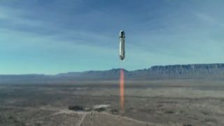 Blue Origin's first upgraded New Shepard rocket and crew capsule launches on an uncrewed suborbital flight from the company's West Texas test site on Jan. 14, 2021.