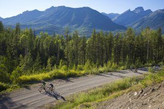 TransRockies Gravel Royale 2021 - Gravel road riding near Fernie, B.C., Canada.