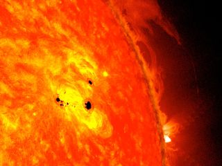 Dark sunspots increase when the sun is more active.