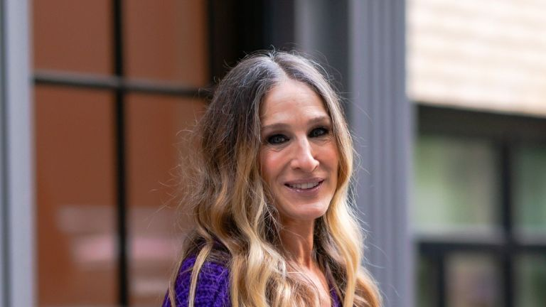 Sarah Jessica Parker is seen in Midtown on October 15, 2020 in New York City