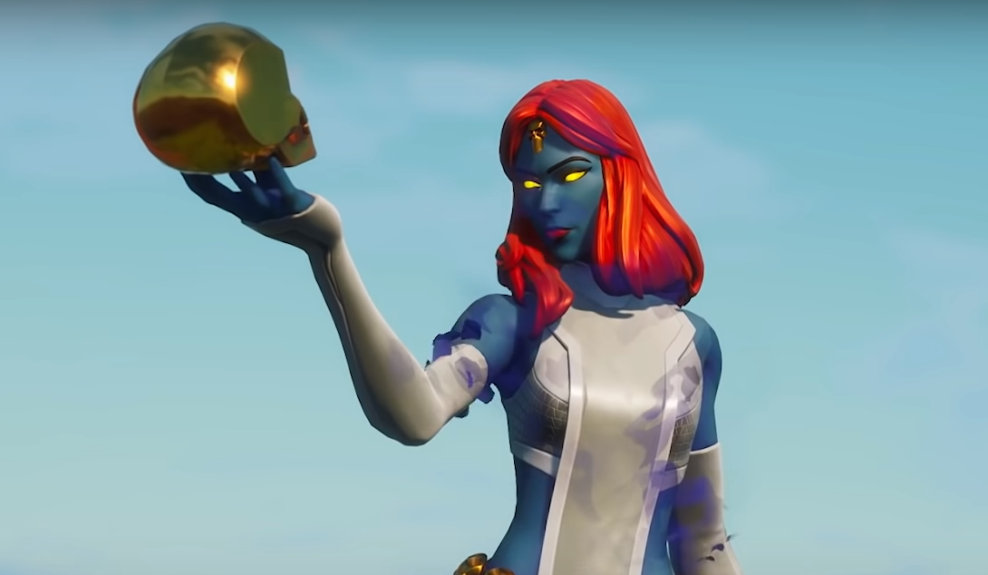 A Fortnite skin of Mystique from X-Men