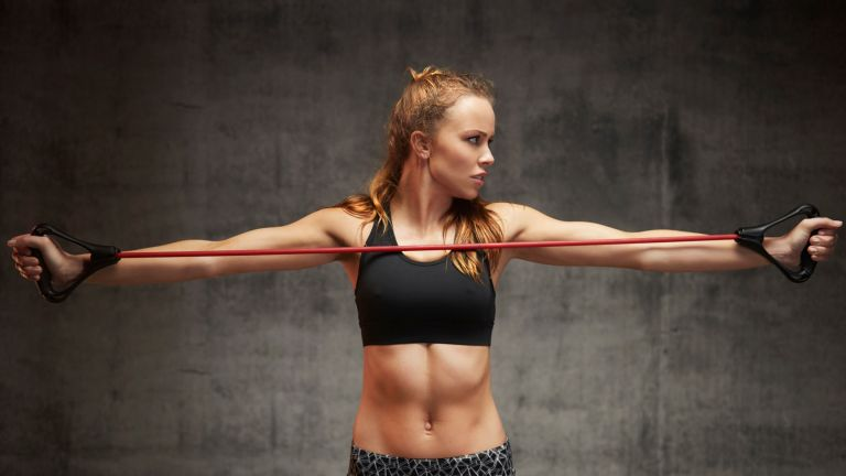 Chest workouts with resistance bands