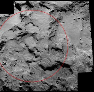 "Rosetta Close-Up of Comet Landing Zone, ""Site J"""