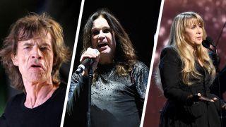 Mick Jagger, Ozzy Osbourne and Stevie Nicks