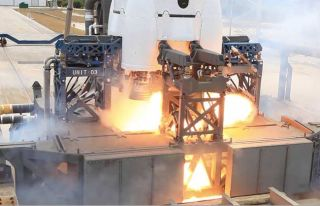 SpaceX Aborts Test Firing of New Rocket's Engines