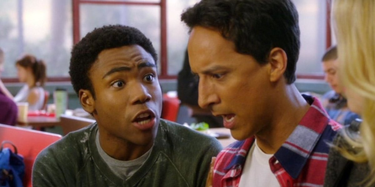 Troy and Abed in the cafeteria at Greendale in Community.