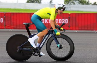 Sarah Gigante in action at the Tokyo Olympic Games