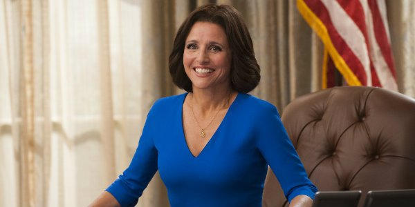 selina smiling on Veep