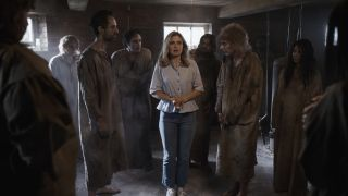 ghosts samantha surrounded by basement cholera ghosts