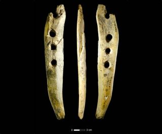 Scientists discovered this rope-making tool, crafted from mammoth ivory, in Hohle Fels Cave in southwestern Germany.