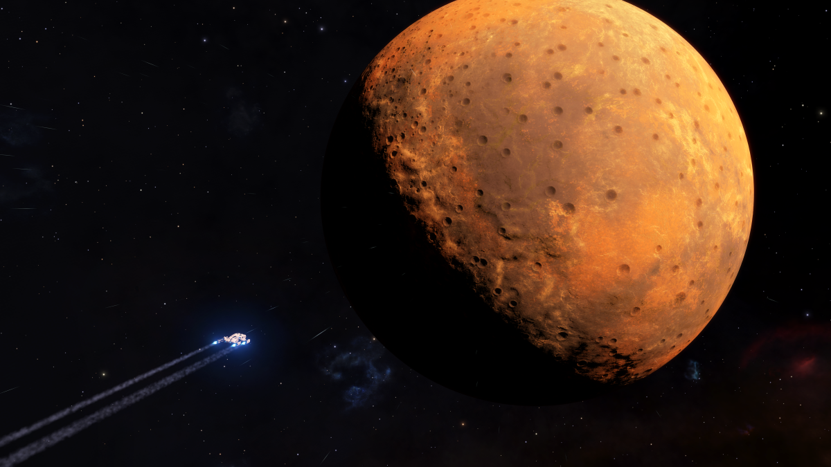 I was almost murdered by a moon in Elite Dangerous last night