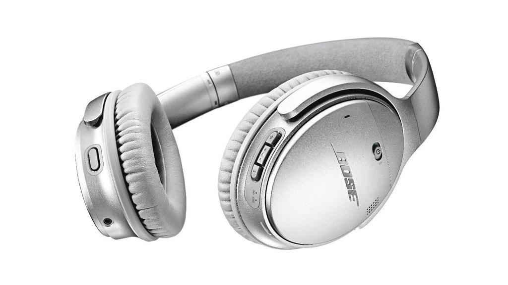 the Bose QuietComfort 35 II wireless headphones in silver