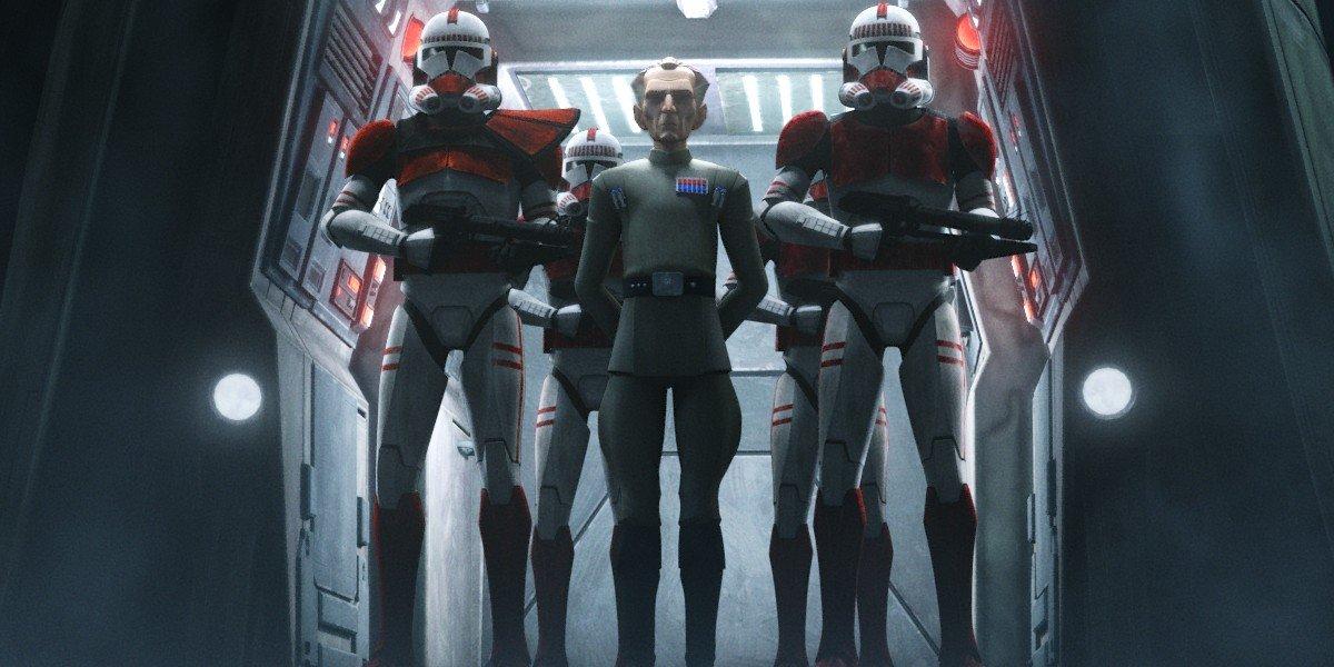 Troopers with Grand Moff Tarkin Star Wars: The Bad Batch Disney+