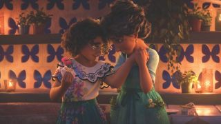 Mirabel and her mom sharing a sweet moment in Disney's Encanto
