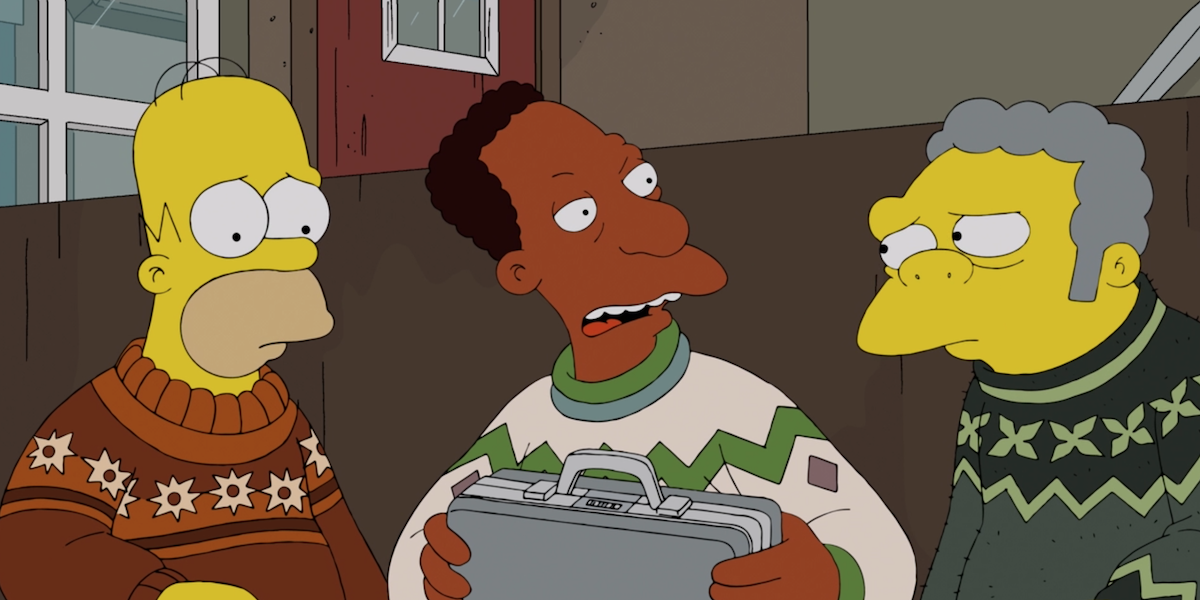 the simpsons carl homer and moe