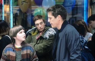 Mum Toni Collette doesn't trust her son Nicholas Hoult's new friend, Hugh Grant